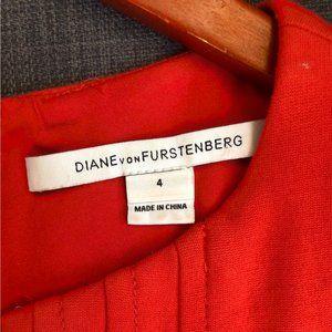 DVF Orange 70s inspired sheath dress